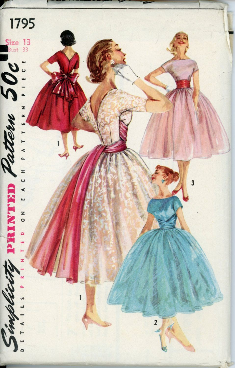 Patters for 1950\'s - 1960\'s ballerina length dresses for women ...