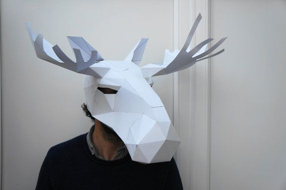 Make your own Moose mask by Wintercroft on Etsy | 8th grade ...