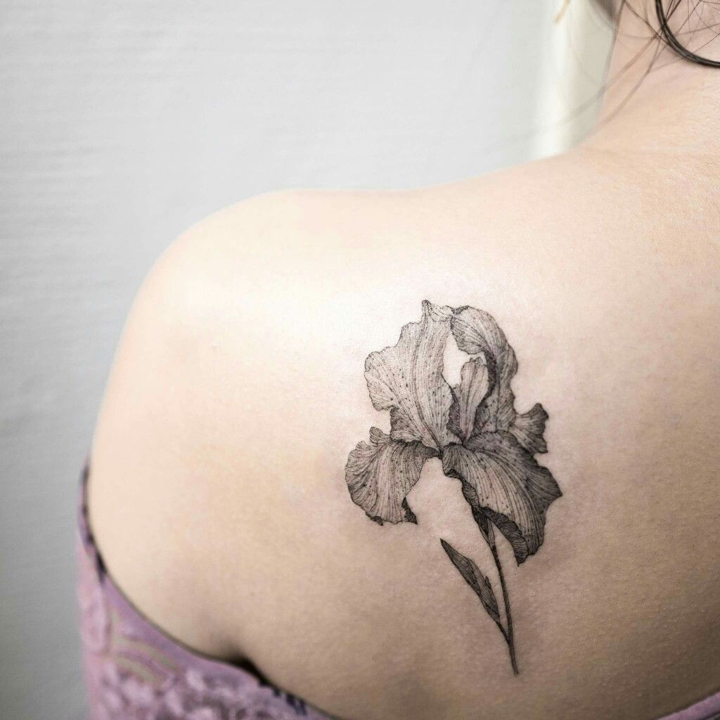 Iris Tattoo Iris Tattoo Iris Flower Tattoo Realistic Flower Tattoo