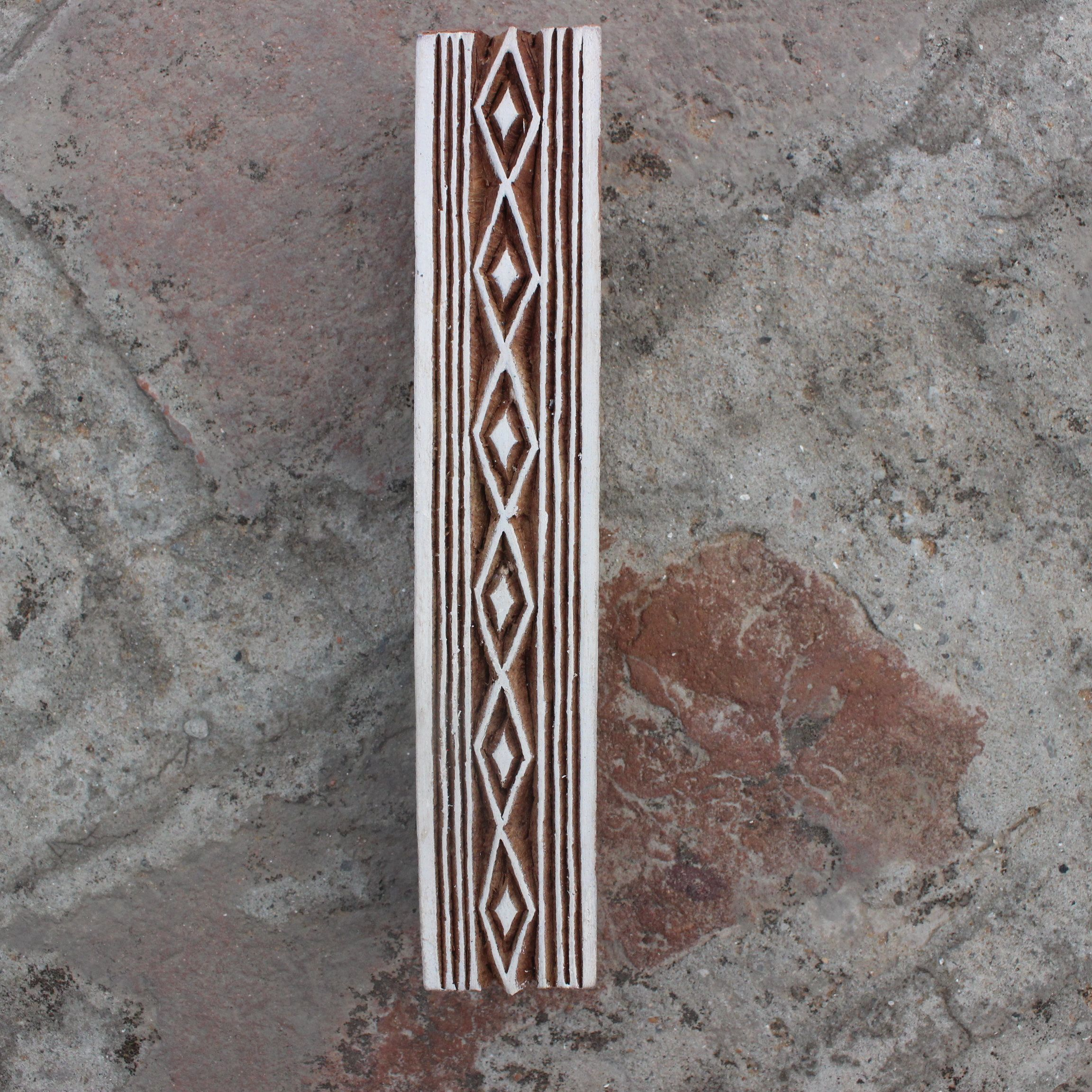 Celtic Border Fabric Stamp Hand Carved Stamp Geometric Stamp Indian Textile Printing Block For Printing Ethnic Soap Stamp Celtic Textile