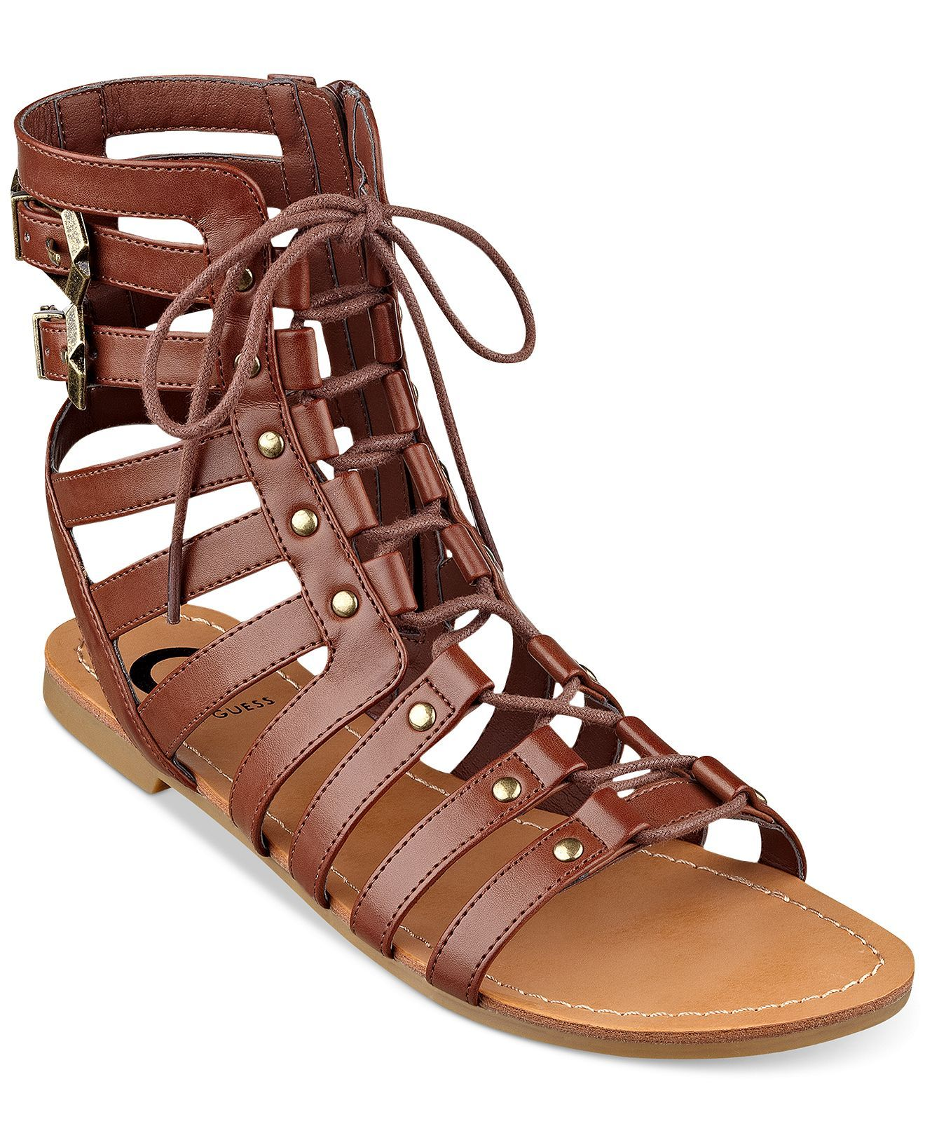 6320c90281e3 G by GUESS Women s Holmes Gladiator Sandals - Shoes - Macy s ...