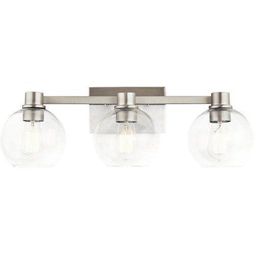 Photo of Kichler Harmony 3 Light bathroom lamp for wall mounting – brushed nickel 45894NI