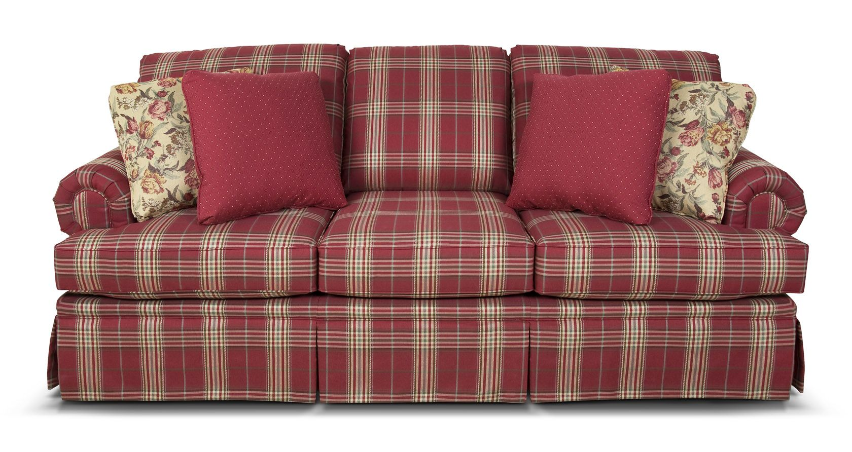 5375 England Clare Clare Plaid Living Room Plaid Sofa Farmhouse Living Room Furniture #plaid #living #room #furniture
