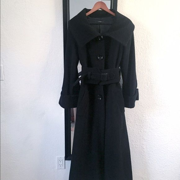 Floor length black wool coat Zara basic stunning Heavy weight ...