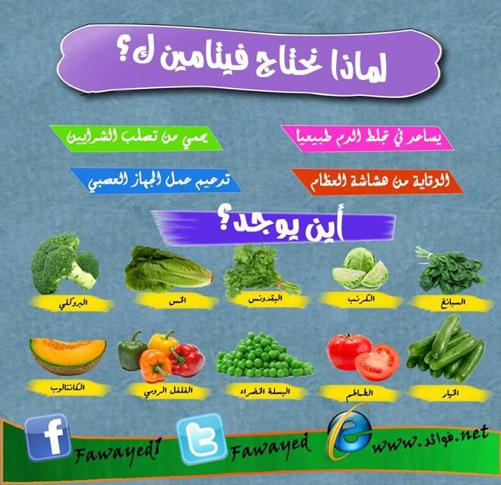 فوائد فيتامين ك وفوائده Health Facts Food Health Diet Health Food