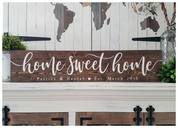 Wood Last Name Sign Family Name Sign Home Sweet Home Sign Etsy Hand Painted Wood Sign Custom Wood Signs Rustic Signs