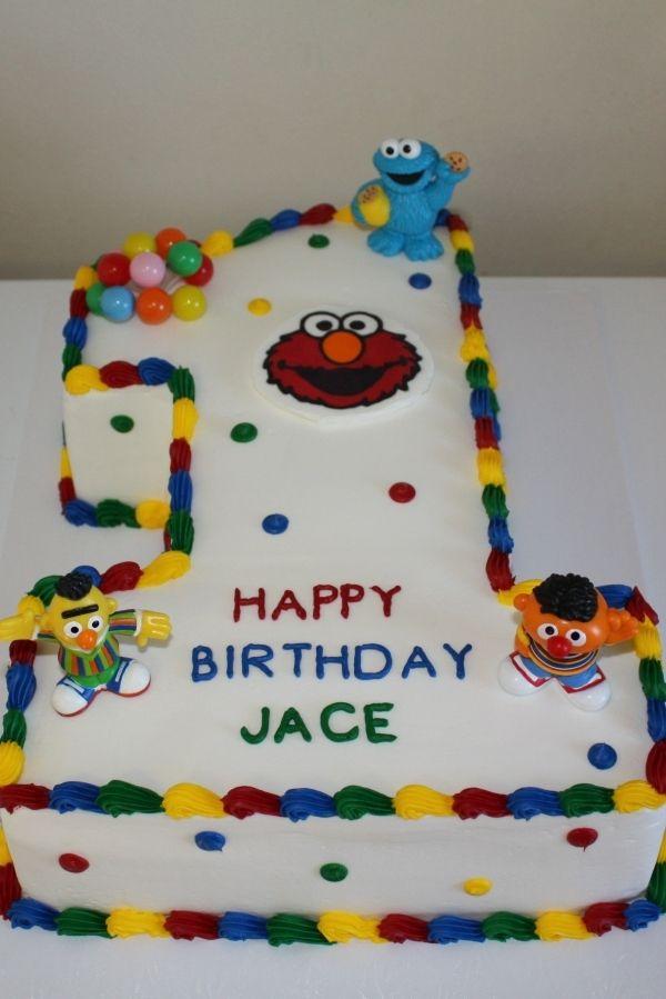 Sesame Street 1st Birthday Cake Sesame Street Birthday Cakes