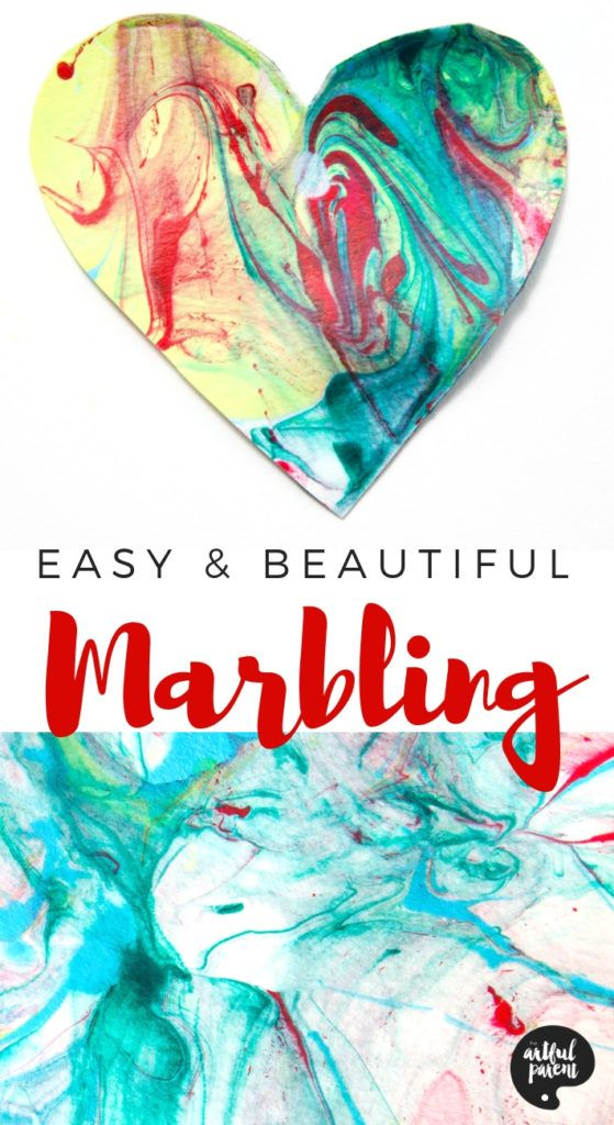 Photo of Paper Marbling with Acrylic Paint and Liquid Starch