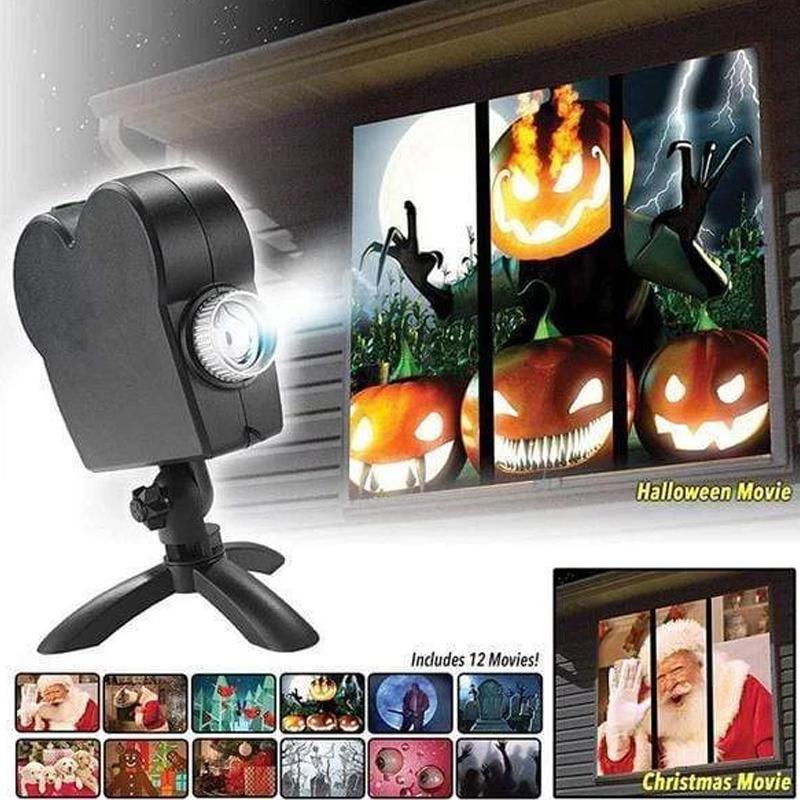 Window Wonderland Projector for Halloween & Christmas in