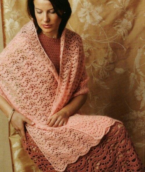 Uitgelezene Mooie brede Gehaakte sjaal (met afbeeldingen)   Gehaakte kleding BO-89