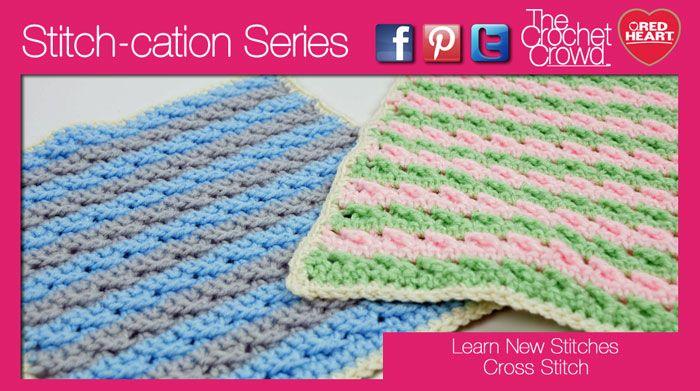 Crochet Cross Stitch Texture   Crochet-Stiches/How To   Pinterest ...