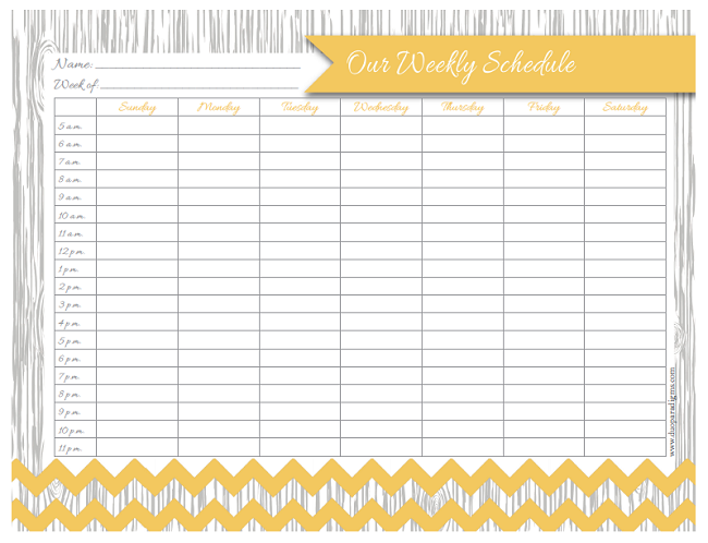 Free Daily Weekly Schedule Printables for the Whole Family