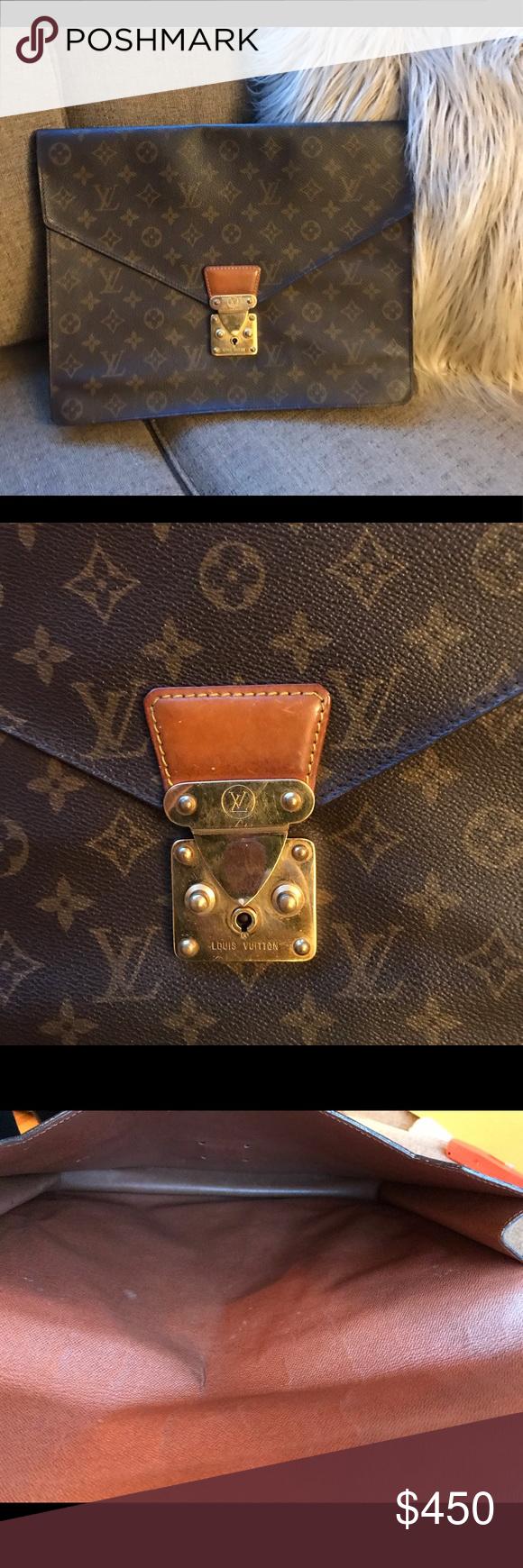 Authentic Louis Vuitton Envelope Clutch Monogram Authentic Louis Vuitton Louis Vuitton Louis Vuitton Bag