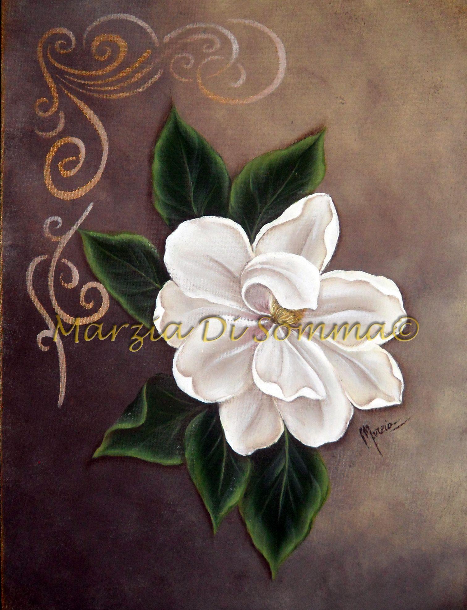 Magnolia One Stroke Painting Imelda S Pinterest Peinture