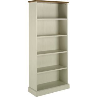 Living Addington Bookcase Antique White And Brown At Argos Co Uk