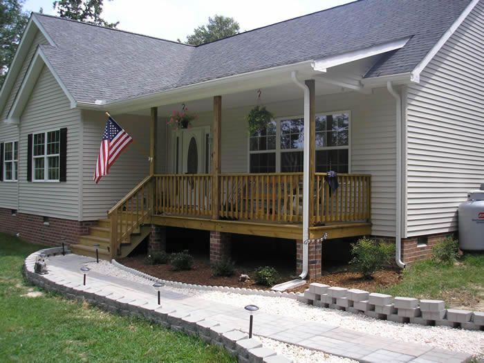 Mobile Home Deck Ideas Porches And Decks Porch 6x22