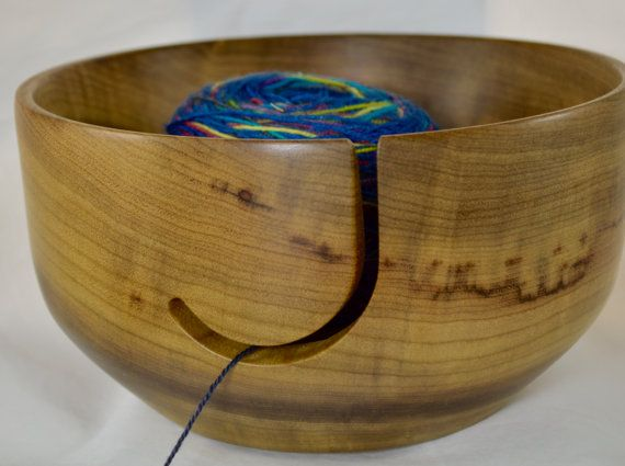 853 Yarn bowl, made from Highly Figured Myrtlewood