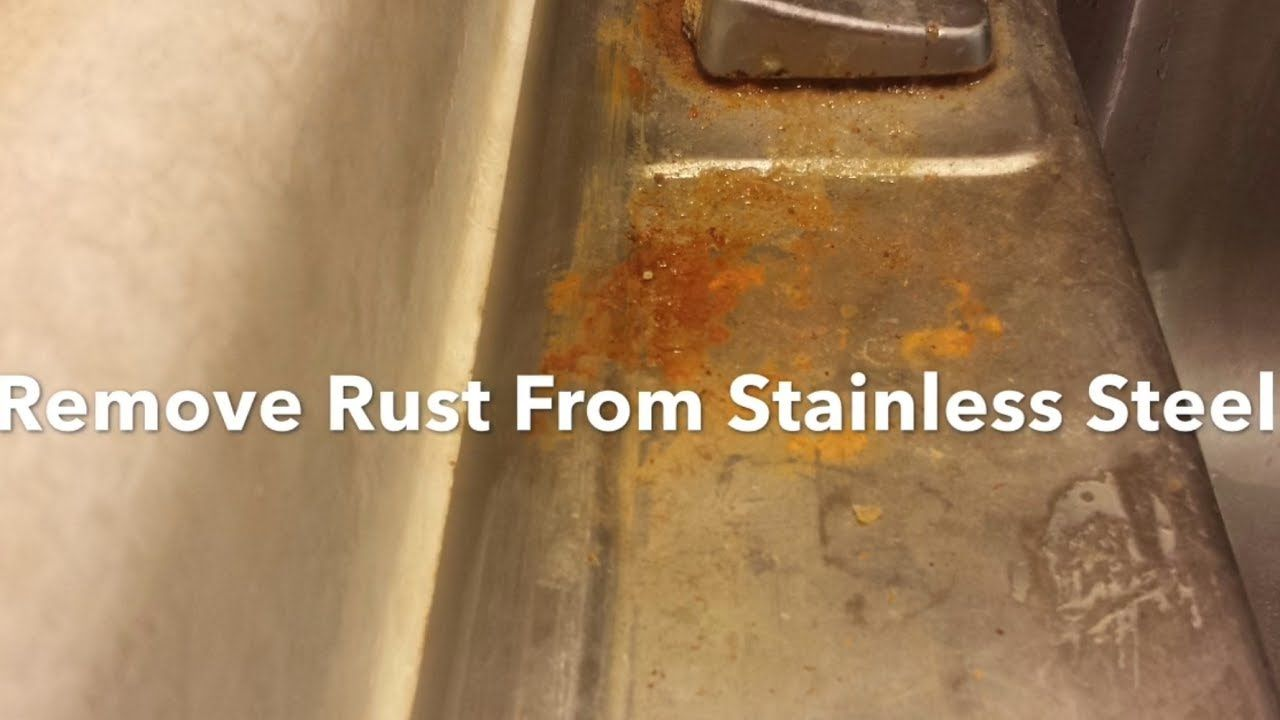 How To Remove Rust From Stainless Steel Sink Bar Keepers Friend