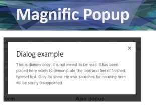 Magnific Popup is a free responsive jQuery lightbox plugin