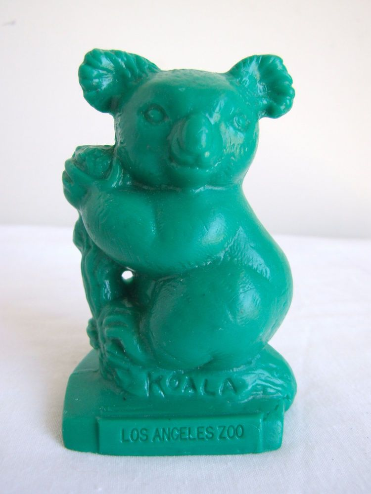 VTG Mold-A-Rama LA Los Angeles Zoo Koala Wax Statue/Figure Animal