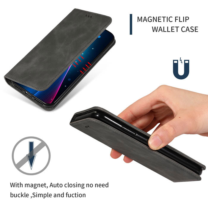 Leather Cover Compatible with Samsung Galaxy Note 10 Plus Card Holders Extra-Durable Kickstand Blue Wallet Case for Samsung Galaxy Note 10 Plus