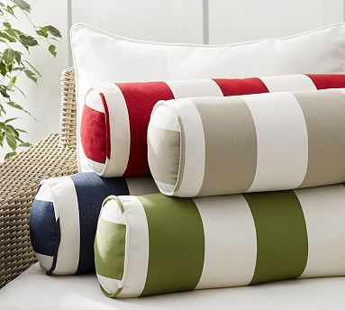 Pb Classic Striped Indoor Outdoor Bolster Pillow Pillows