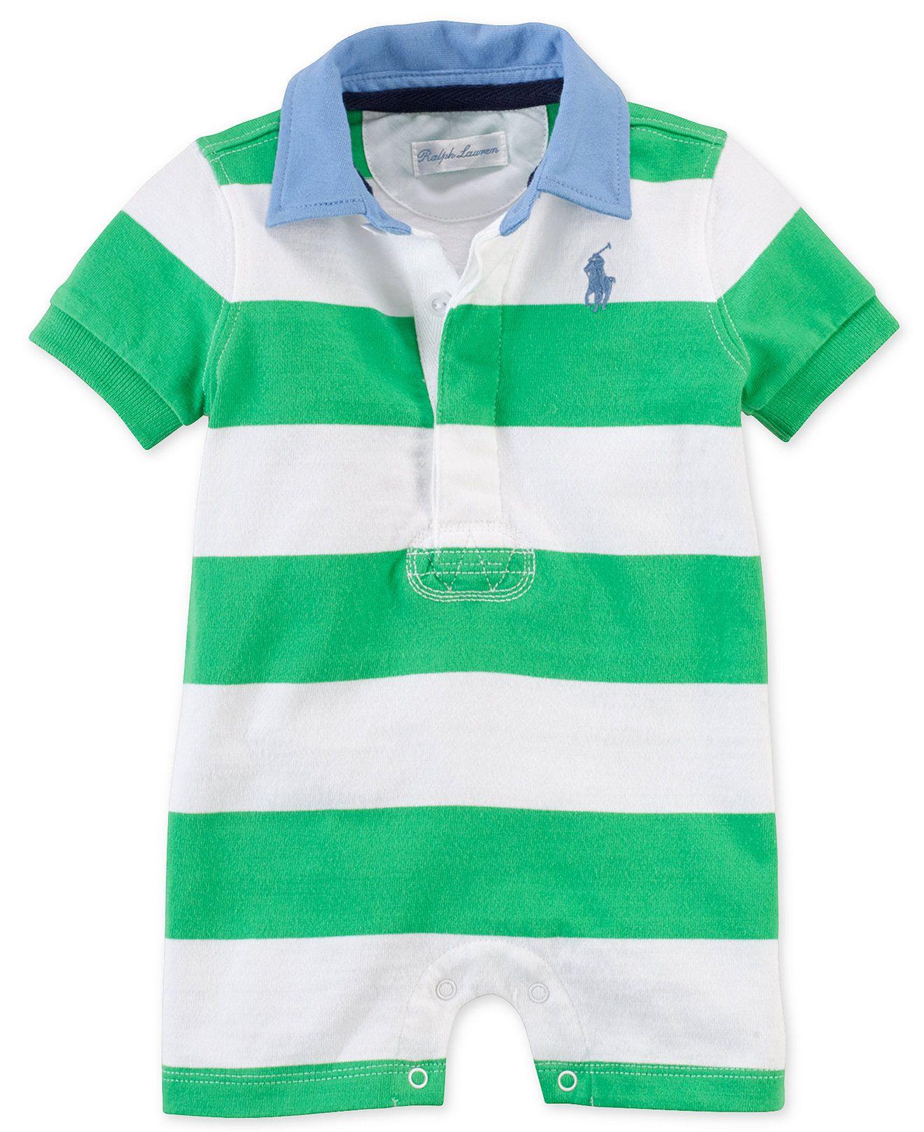 4b84288d2 Ralph Lauren Baby Boys  Rugby Shortalls - Kids Baby Boy (0-24 months) -  Macy s