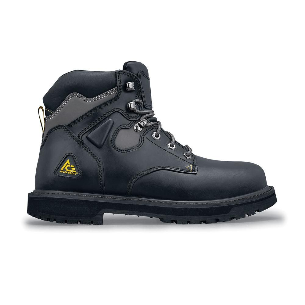 3e5269ff2b4 Ace Providence ST Men's Size 11.5W Black Leather Slip-Resistant ...