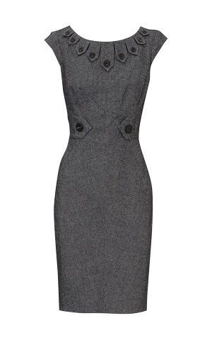 5813641257c Karen Millen 2011 New Arrival Wool Dress Gray