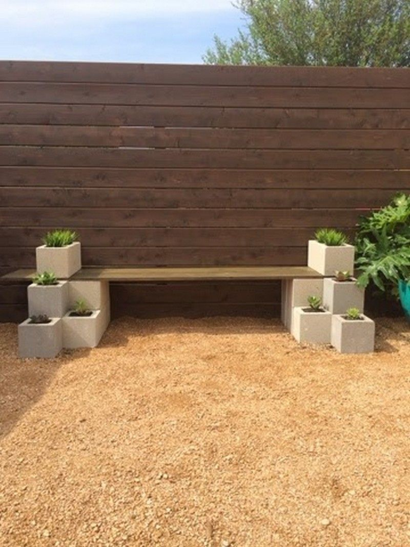 Miraculous Diy Cinder Block Outdoor Bench In 2019 Home Ideas Diy Creativecarmelina Interior Chair Design Creativecarmelinacom