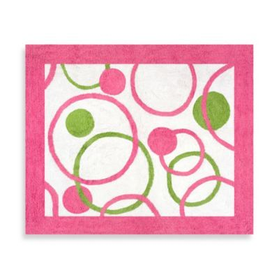 Circles Pink And Green Accent Floor Rug Add The Finishing Touch To Your Room With Mod By Sweet Jojo Designs