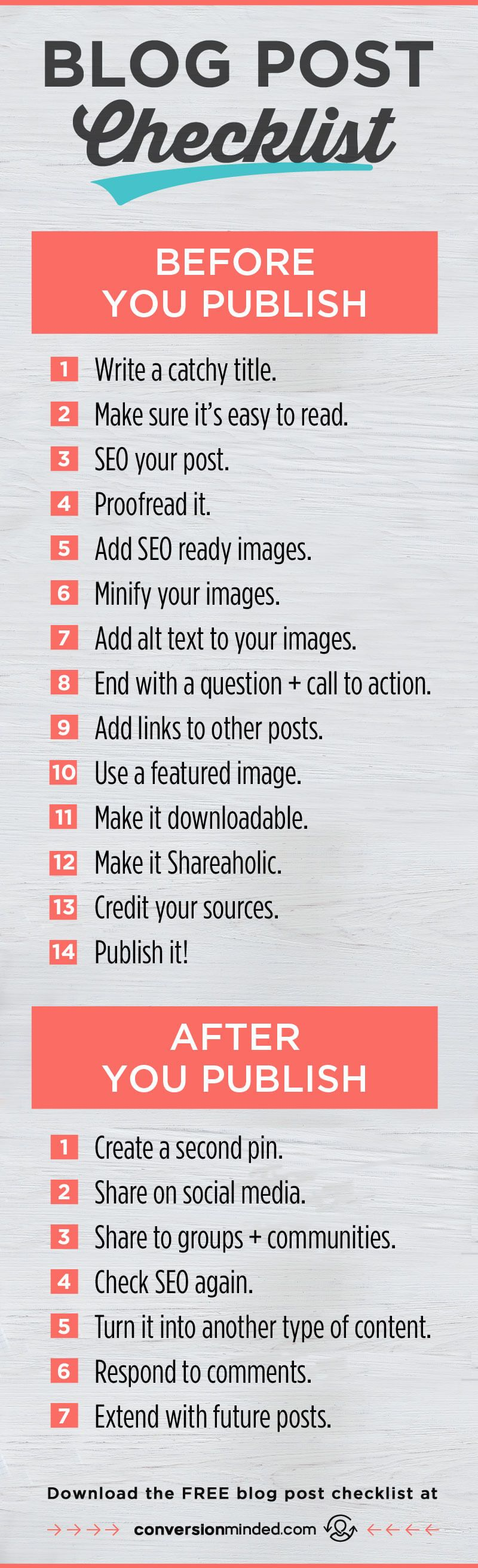 7 Things Every Blogger Should Do After You Hit Publish