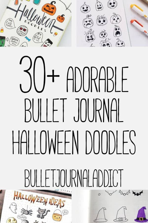 30+ Easy Halloween Doodles For Your Bullet Journal #halloweenbulletjournal