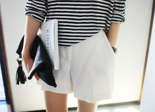 stripes and shorts