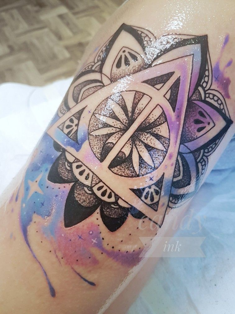 Tattoo Harry Potter Mandala Watercolor Inspirational Tattoos