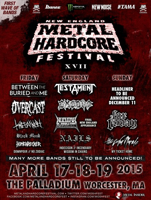 First Set Of Bands Revealed For New England Metal Hardcore Festival
