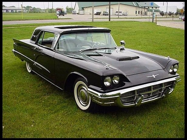1960 Ford Thunderbird Golde Top Rare Factory Sun Roof