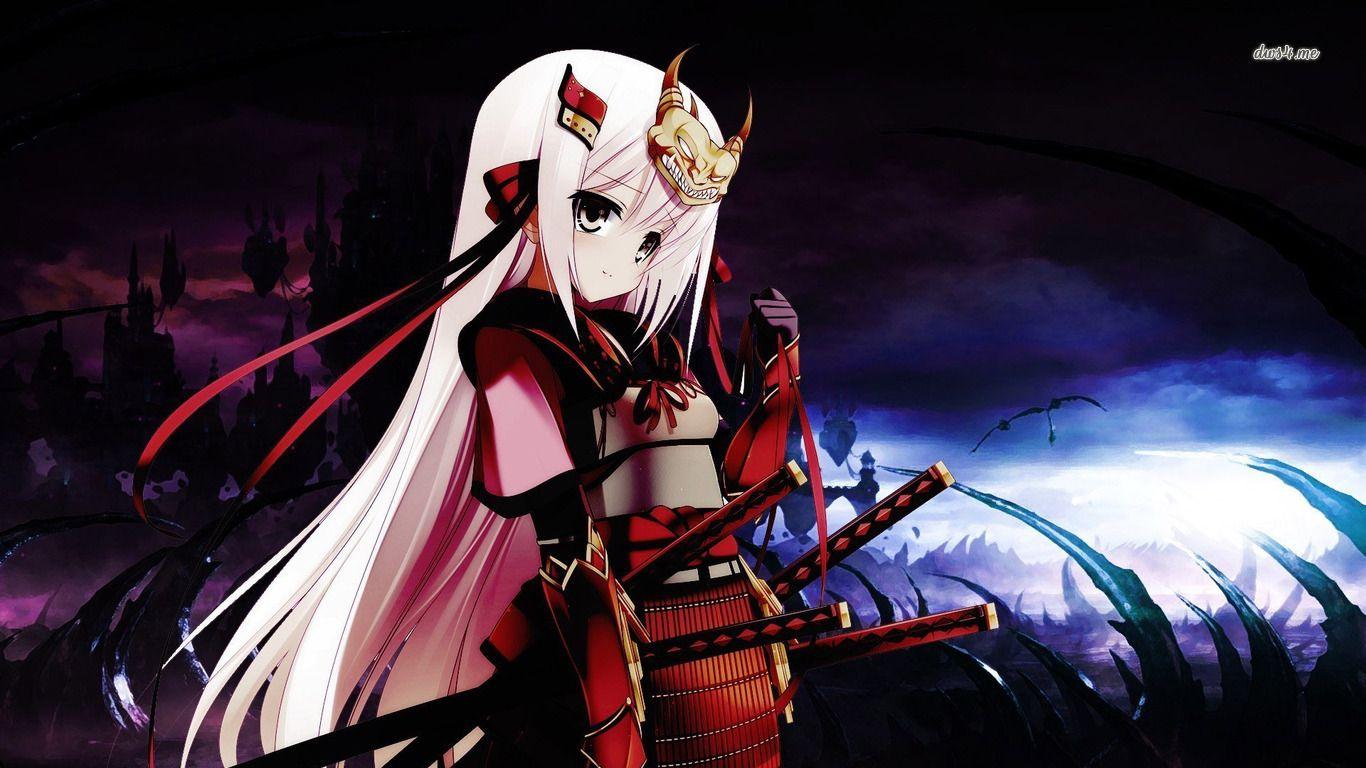 Samurai Girl Hd Wallpaper Samurai Wallpaper Female Samurai Anime Warrior Girl