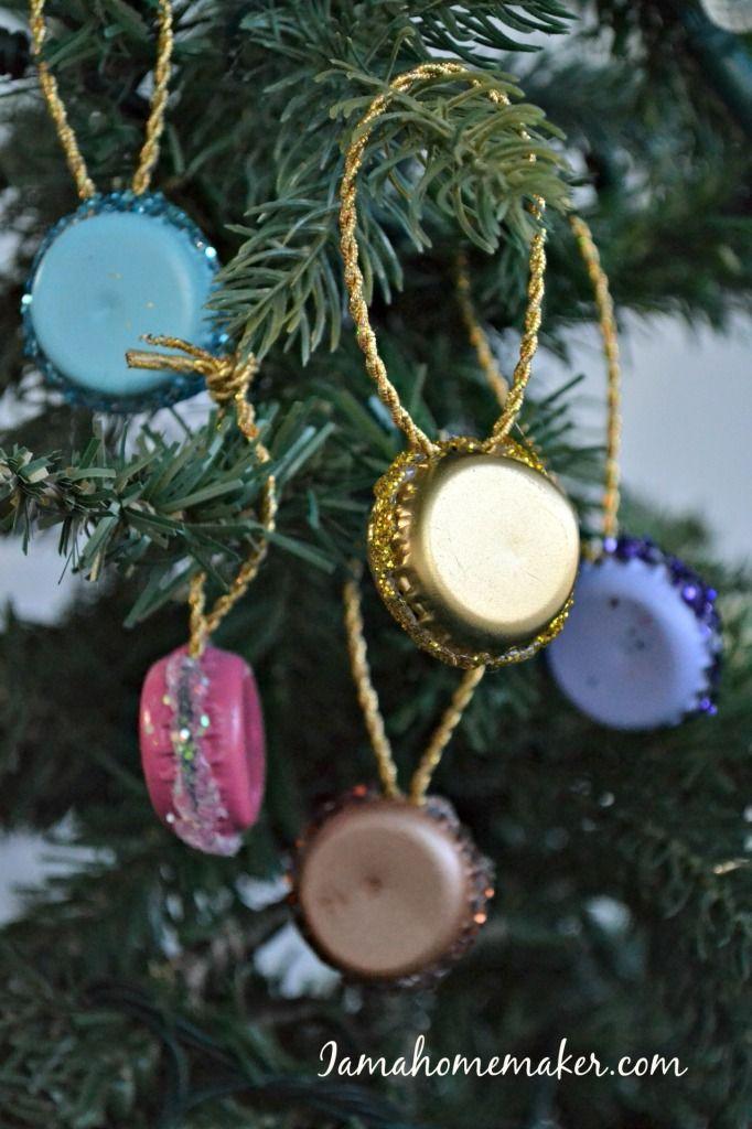adornos navideños de tapas corona!!