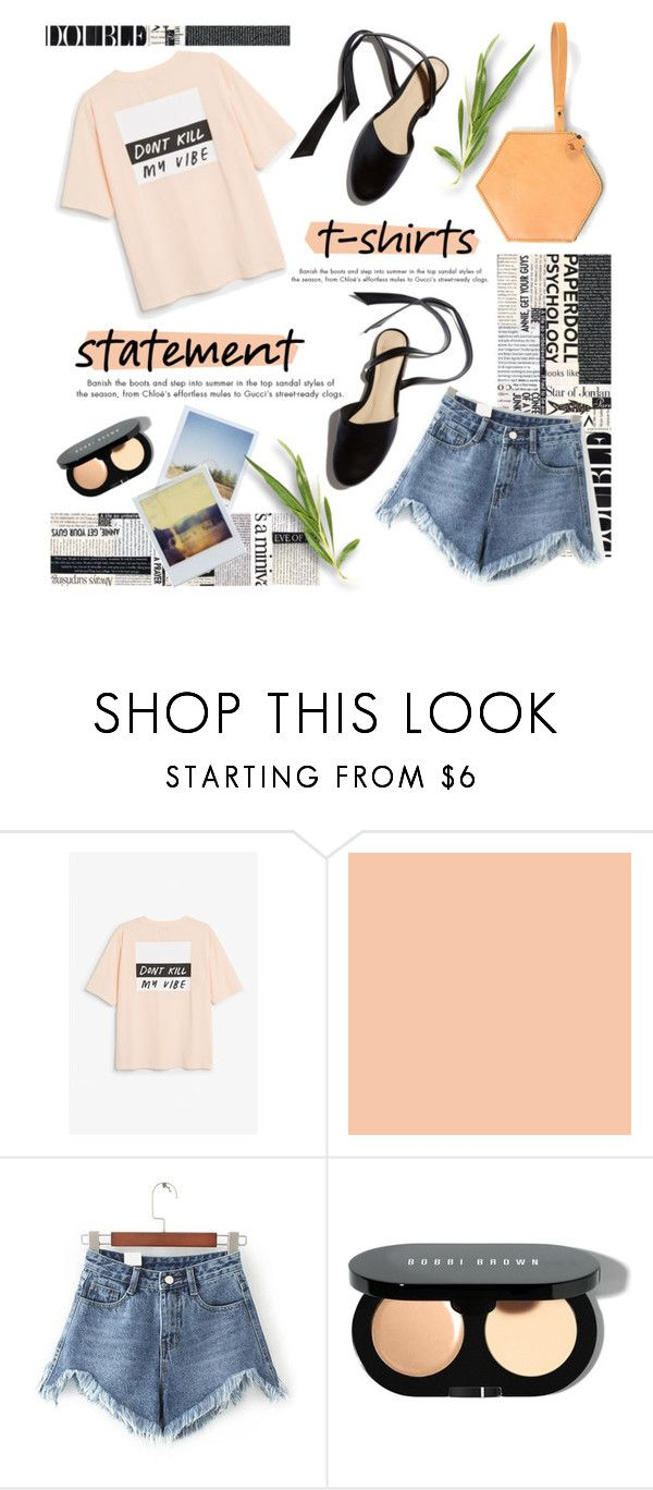 """""""Don't kill my vibes"""" by janicevc ❤ liked on Polyvore featuring Monki, WithChic, Bobbi Brown Cosmetics and Polaroid"""