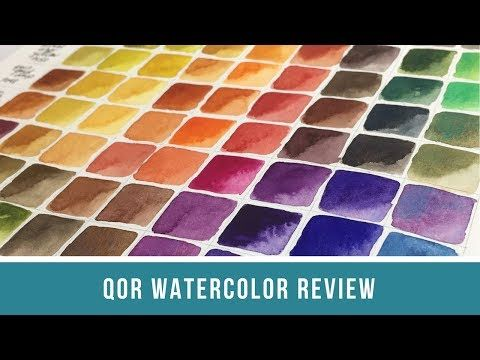 QoR Watercolor Review | Color Mixing Chart and Brand ...