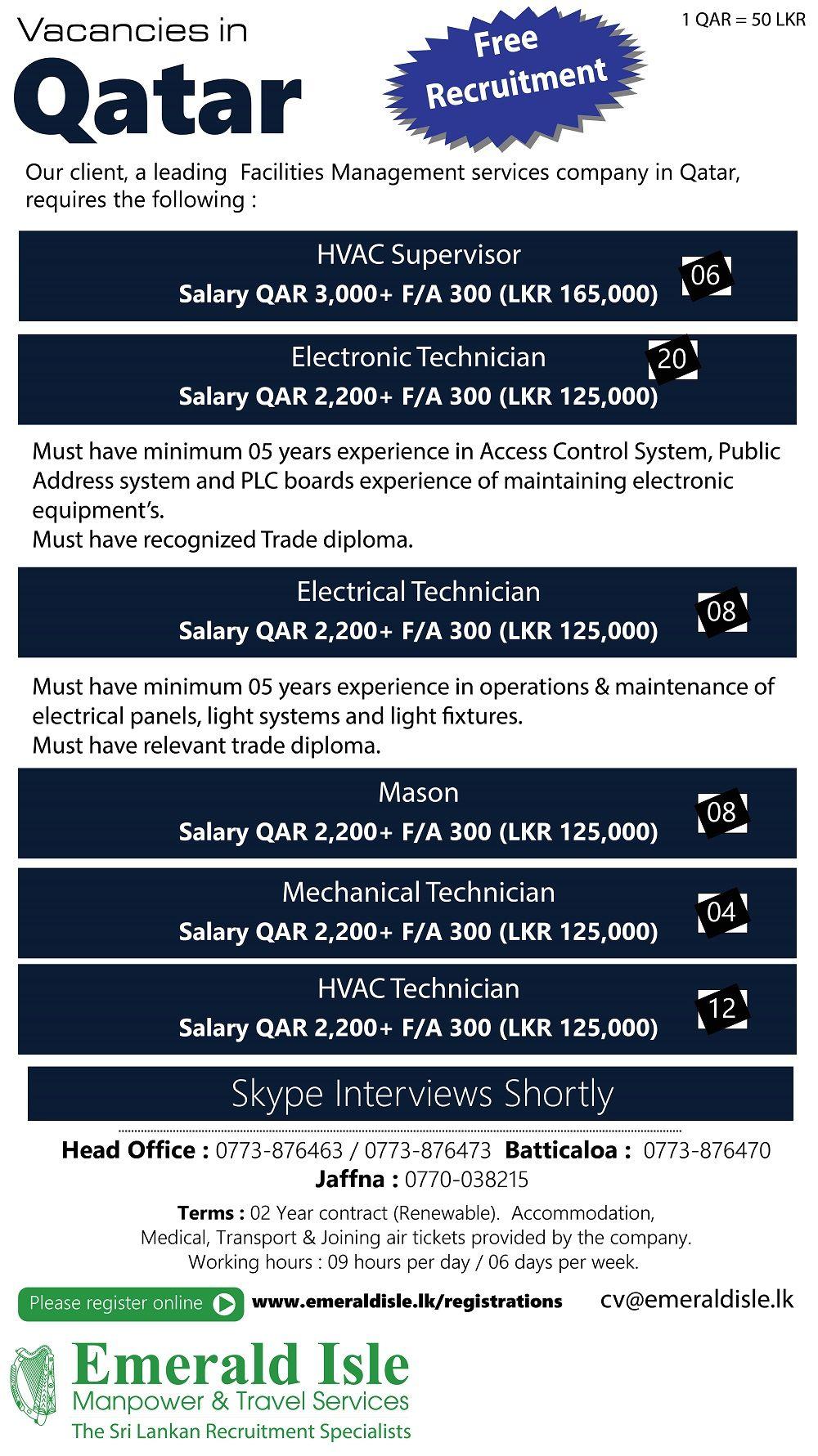 Foreign Vacancies Overseas Jobs Job Recruitment