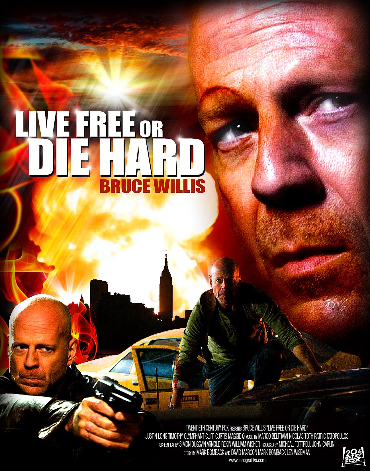 Live Free or Die Hard movie poster  Movies I like  Hard movie Movie posters Adventure Movies
