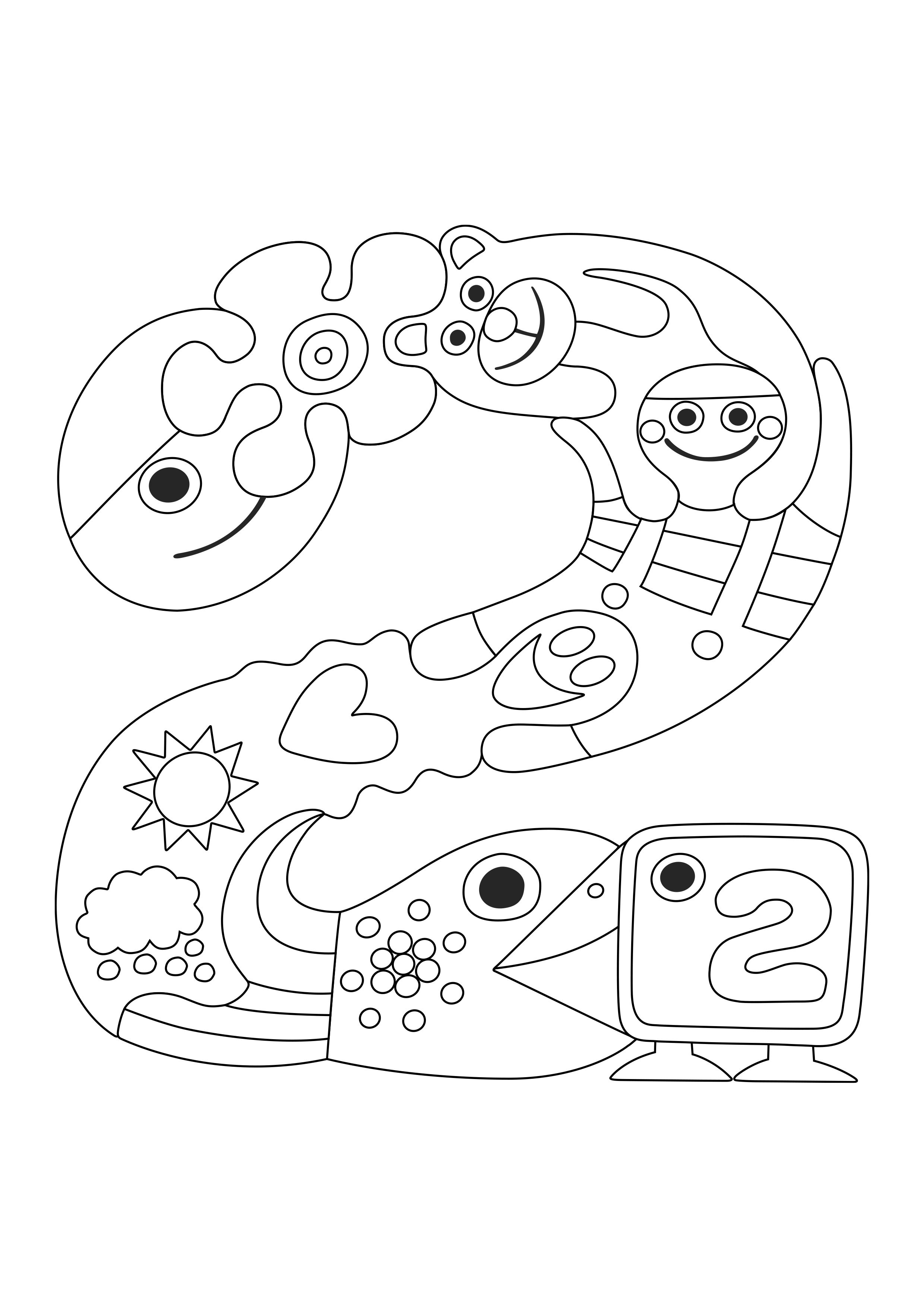 Pikku Kakkosen logo | värityskuva | lasten | askartelu | käsityöt | koti | värittäminen | free printable pattern | DIY ideas | kid crafts |  home | colouring | Pikku Kakkonen