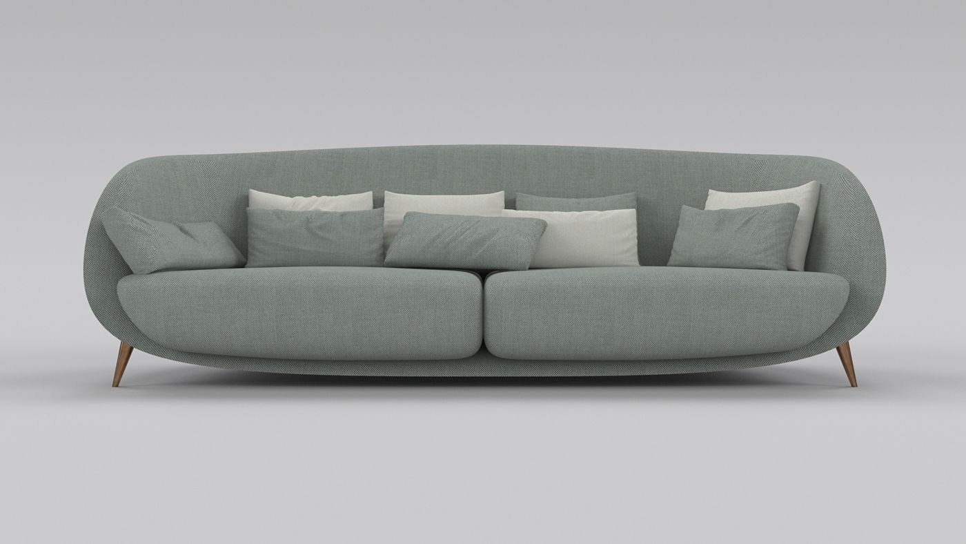 Loretto Sofa For Jetclass On Behance Mebel Pinterest Chaise  # Muebles Jetclass