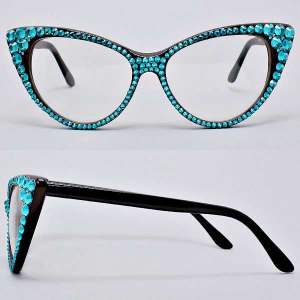 947d9ecc71 Handmade with Crystal Cat Eye glasses • Size   6
