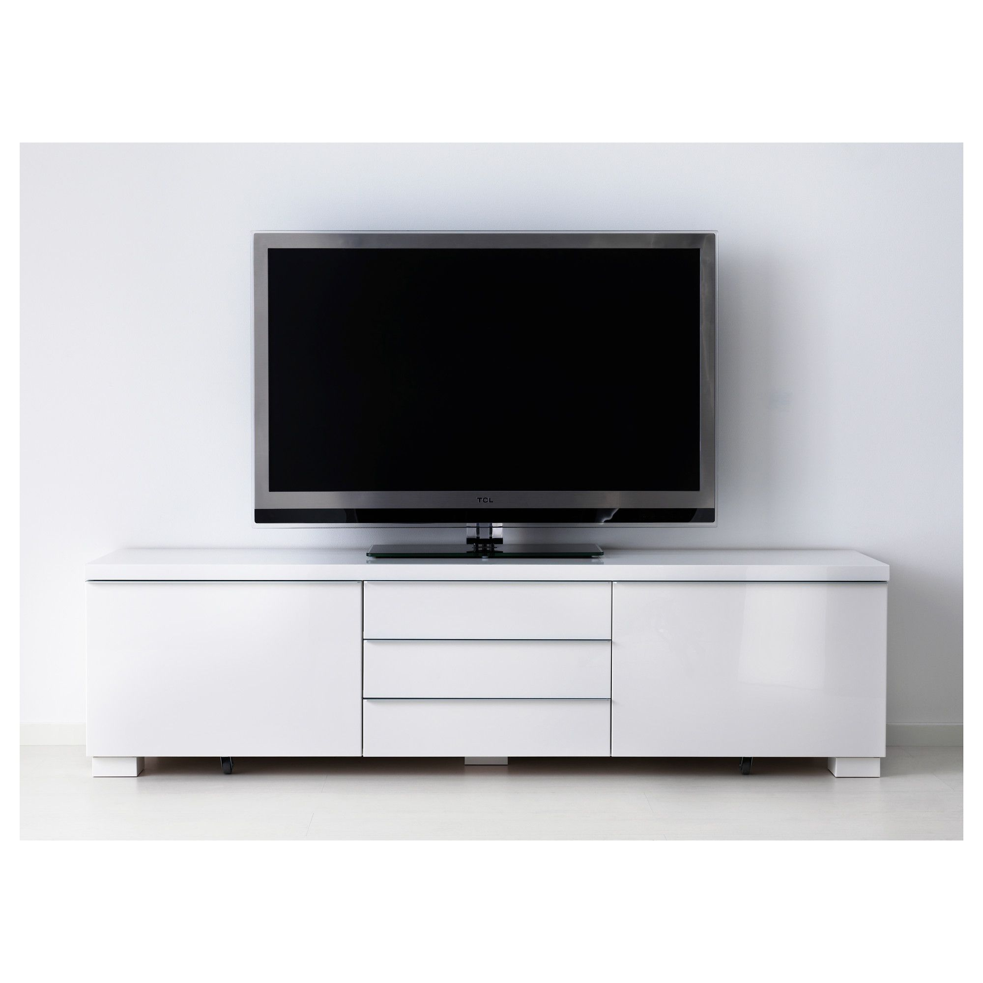 Ikea Best 197 Burs Tv Bench High Gloss White In 2019