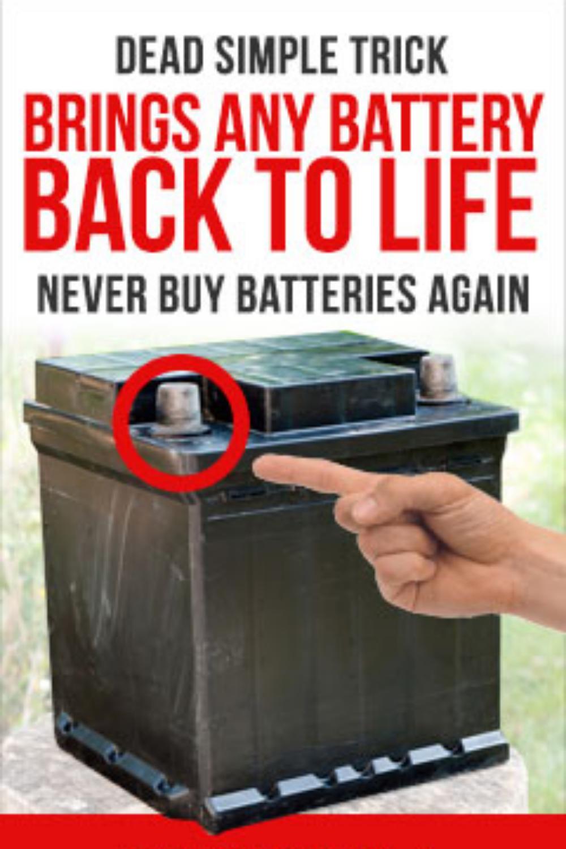 Simple Battery Tricks Battery Batteries Battery Repair