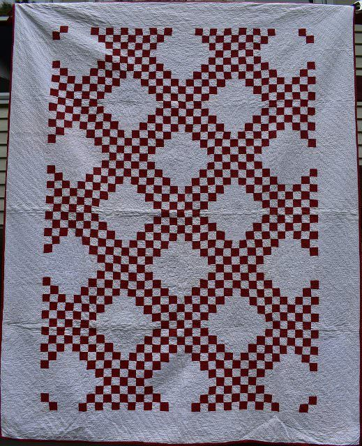 Triple Irish Chain Quilt, circa 1910. $ 475. | Antique Quilts FOR ... : irish chain quilt for sale - Adamdwight.com