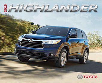 2017 Highlander Brochure Toyota 2016